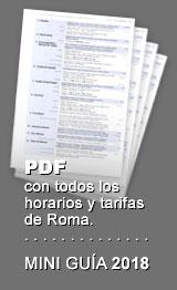 PDF con horarios y tarifas de Roma
