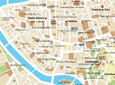 Mapa de detalle del centro de Roma
