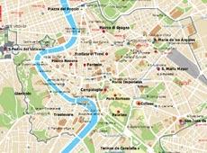 Mapa de monumentos de Roma