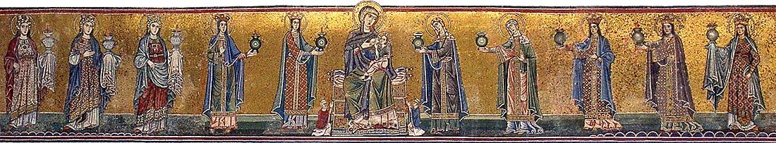 Santa Maria in Trastevere - mosaico fachada