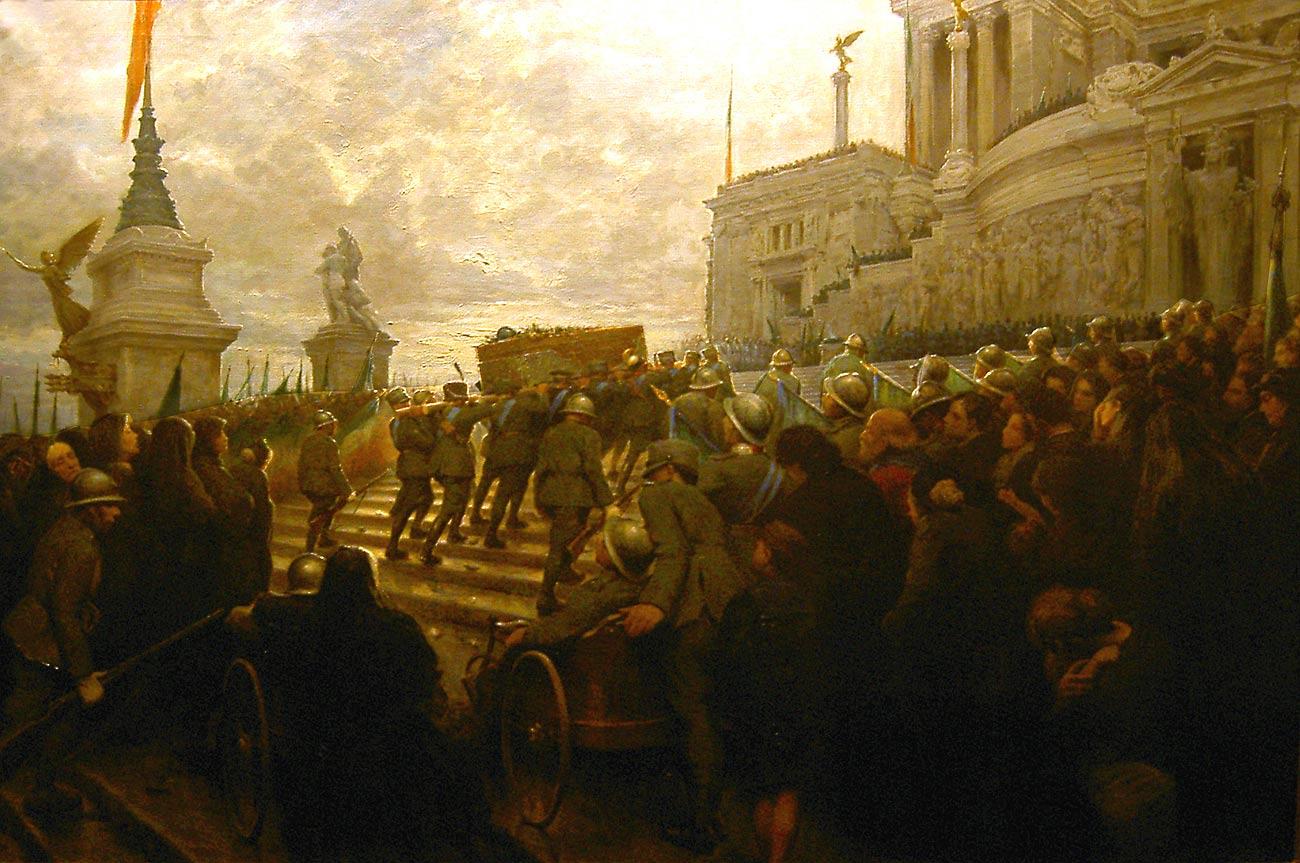 La plaza venecia y el controvertido vittoriano for La terraza de la casa del soldado