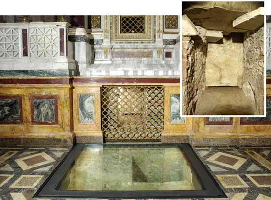 Tumba de San Pablo, bajo el altar papal