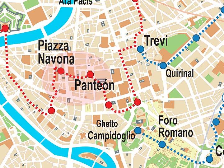 Turistico Español Mapa Turistico De Roma A Pie.Monumentos Y Museos De Roma Guia Rapida Y Completa 2019